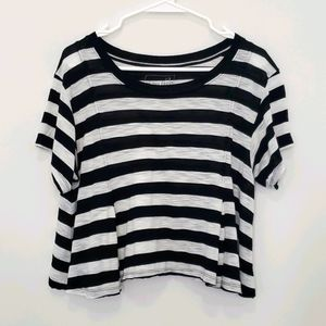 Free People - We The Free Cropped Striped T-Shirt